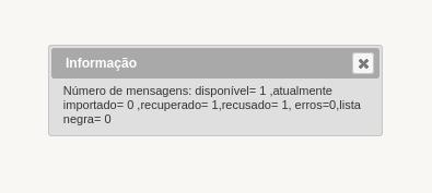 GLPI - Falha ao importar e-mails do destinatário