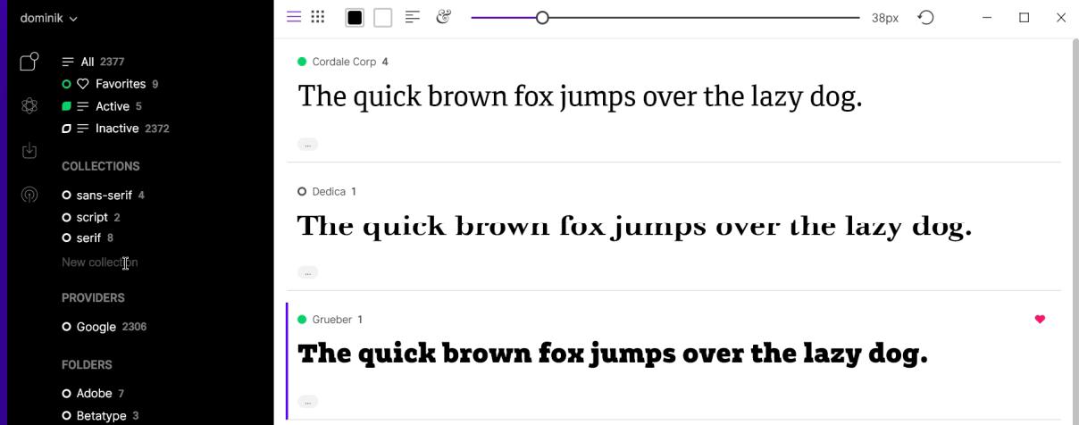 FontBase - Gerenciamento de fontes multiplataforma para Linux, Windows e MacOS
